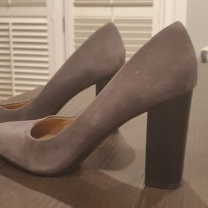 Gray Suede Heels
